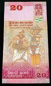 Bank Note Of 20 Sri Lankan Rupees 2010 Of Release. Rupees Is The National Currency Of Sri Lanka. Bac poster