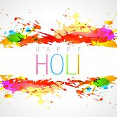 image of dharma  - vector colorful holi festival background - JPG