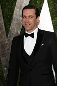 WEST HOLLYWOOD, CA - FEB 24: Jon Hamm at the Vanity Fair Oscar Party at Sunset Tower on February 24,
