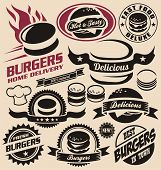 image of food logo  - Burger icons - JPG