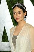 WEST HOLLYWOOD, CA - 24 FEB: Emmy Rossum bei der Vanity Fair Oscar Party im Sunset Tower am Februar
