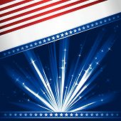 pic of usa flag  - Stylised Stars and Stripes - JPG