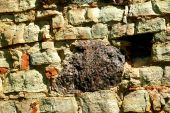 foto of fieldstone-wall  - The stone wall for old mansion background - JPG