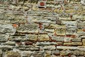 picture of fieldstone-wall  - The stone wall for old mansion background - JPG
