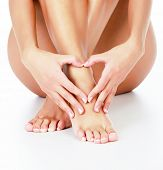 picture of varicose  - Woman loves her legs - JPG
