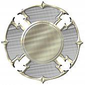 pic of maltese-cross  - Blank Silver and Gold Maltese Cross Fire Department Emblem - JPG