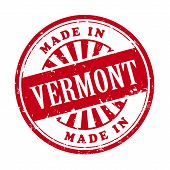 Made In Vermont Grunge Rubber Stamp