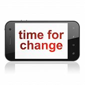 Timeline concept: Time for Change on smartphone
