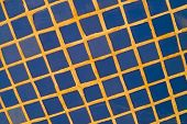 foto of tile cladding  - Full frame take of blue ceremic mosaic tiles