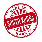 Made In South Korea Grunge Rubber Stamp