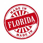 Made In Florida Grunge Rubber Stamp