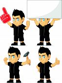 Spiky Rocker Boy Customizable Mascot 13