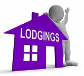 Lodgings House Means Place To Stay Or Live