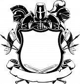picture of knights  - A vector set of knightly ornamental silhouette - JPG
