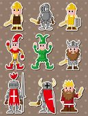 image of wench  - Cartoon Medieval People Stickers - JPG