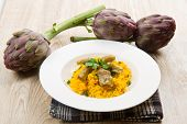 Italian Risotto With Artichokes