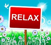 stock photo of rest-in-peace  - Relaxation Relax Meaning Peace Rest And Pleasure - JPG