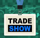 stock photo of exposition  - Trade Show Meaning World Fair And Export - JPG