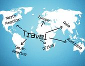 picture of globalization  - Travel Worldwide Representing Travelled Travelling And Globalize - JPG
