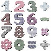 picture of poka dot  - scrapbook numbers on white background vector illustration - JPG