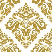 foto of damask  - Floral vector oriental pattern with damask - JPG