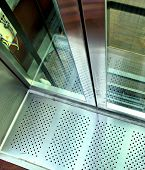 foto of elevators  - The close view of an elevator