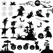 image of halloween characters  - Halloween holiday cartoon - JPG