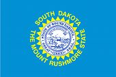 picture of south american flag  - The flag of the state of South Dakota - JPG