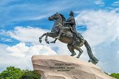 pic of great horse  - Monument of Russian emperor Peter the Great known as The Bronze Horseman Saint Petersburg Russia - JPG