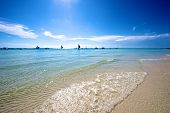 picture of boracay  - Beach view in Boracay Island in the Philippines - JPG