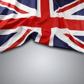 picture of jacking  - Union Jack flag on grey background - JPG