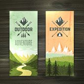 Постер, плакат: Tourism vertical banners set