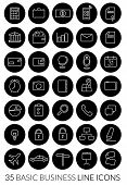 pic of line  - Business Line Icon Vector Set - JPG