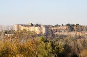 picture of avignon  - View on a fortress in Avignon France - JPG