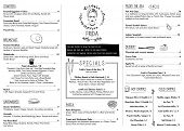 stock photo of decorative  - RESTAURANT MENU TEMPLATE - JPG