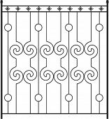 picture of windows doors  - Wrought Iron Gate - JPG