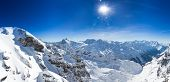 stock photo of tit  - Beautiful view from the Swiss mountain Titlis towards the South - JPG