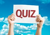 image of quiz  - Quiz card with sky background - JPG