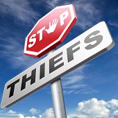 picture of theft  - catch thieves stop theft no robbery or pick pocket thief arrest by police investigation or neighborhood watch online internet thief - JPG