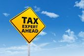 Постер, плакат: Tax Expert Ahead