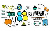 picture of retirement  - Retirement Senior Citizen Insurance Pension Management Concept - JPG
