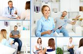 image of psychologist  - Collage of psychologist consulting - JPG