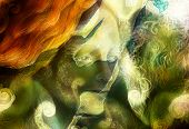 foto of creatures  - radiant elven fairy woman creature and energy lights - JPG