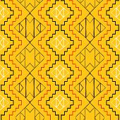 foto of native american ethnicity  - Vector seamless ethnic pattern with american indian motifs in multiple colors - JPG