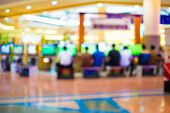 image of arcade  - Arcade game machine shop blur background with bokeh image  - JPG