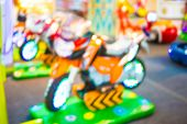 picture of arcade  - Arcade game machine shop blur background with bokeh image  - JPG