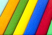 picture of crepes  - the multi colored crepe paper put together - JPG