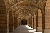 picture of tabriz  - corridor in the courtyard of the Kabud mosque in Tabriz - JPG