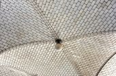 picture of municipal  - Guastavino tile ceiling by the subway entrance under the Municipal Building in New York City - JPG