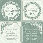 picture of ring-dove  - Antique baroque wedding invitation set - JPG